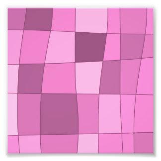 Fun Mirror Checks in Pink Photo Art