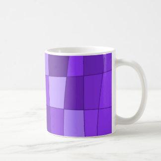 Fun Mirror Checks in Violet Mugs
