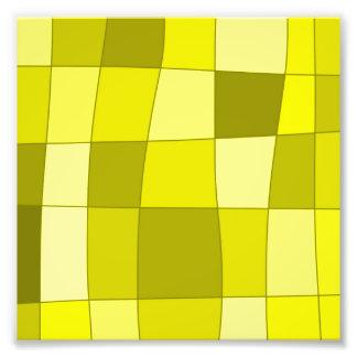 Fun Mirror Checks in Yellow Photo