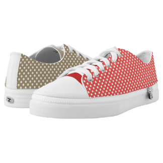 Fun Mismatched Polka Dots Low Tops