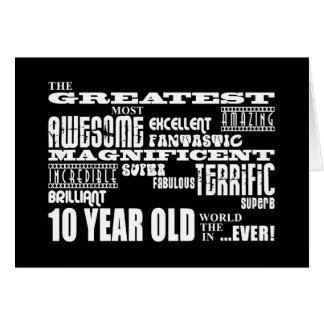 Fun Modern 10 Birthday Party Greatest Ten Year Old Card