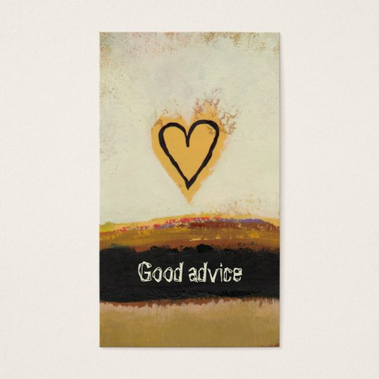 Fun modern art heart painting customise your own business card