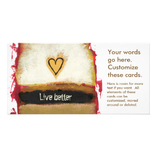 Fun modern art heart painting customize your own personalised photo card