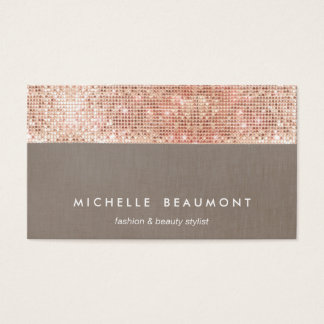 Fun Modern Beauty and Fashion Faux Copper Sequin