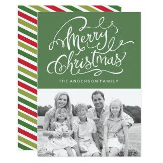 Fun Modern Christmas Photo Cards