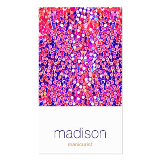 Fun Modern Colorful Pink Confetti Salon Pack Of Standard Business Cards