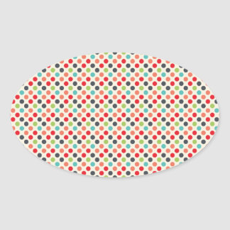Fun Modern Colorful Polka Dots Pattern Gifts Stickers