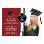 Fun Modern Graduate Photo Graduation Party Personalised Invites