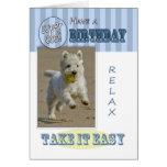 Fun Modern West Highland White Terrier Dog Card