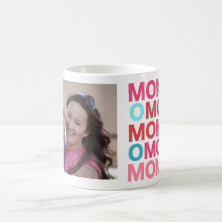 Fun Mom design with Photo in Heart Frame Basic White Mug
