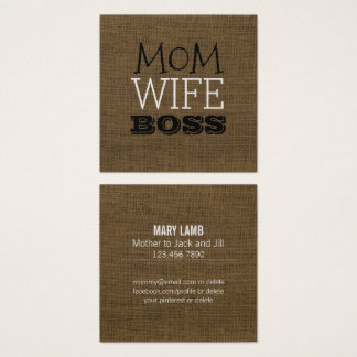 Fun Mommy Calling Cards | Rustic Mom Wife Boss