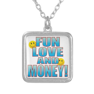 Fun Money Life B Silver Plated Necklace