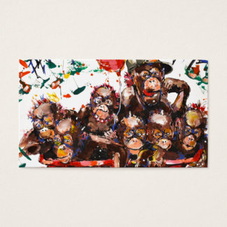 Fun monkey business card
