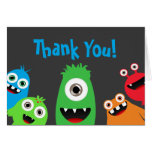 Fun Monster Bash Thank You Notes Note Card