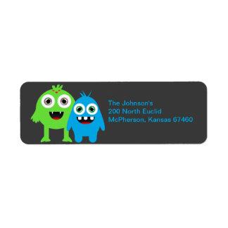 Fun Monsters Return Address Label