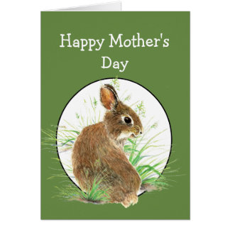 Fun Mother's Day All Ears Cute Bunny Rabbit Card