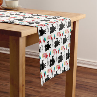 Fun Movie lovers party pattern tiled table runner