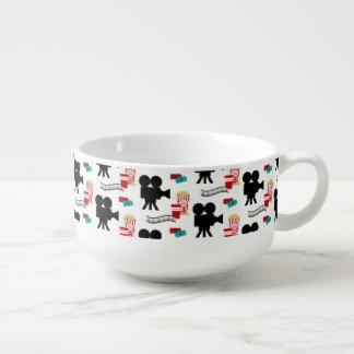 Fun Movie Night reel popcorn pattern serving bowl