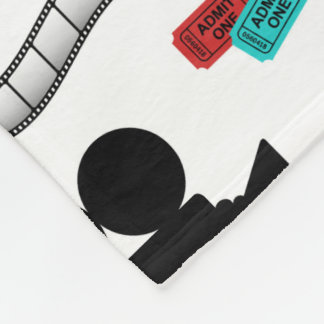 Fun Movie reel popcorn pattern theater blanket