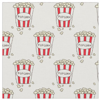 Fun Movie Theater Popcorn in Bucket for Sewing Fabric