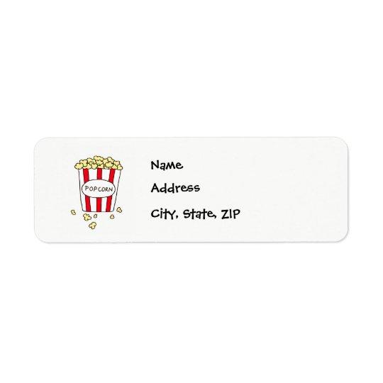 Fun Movie Theatre Popcorn in Bucket Address Labels