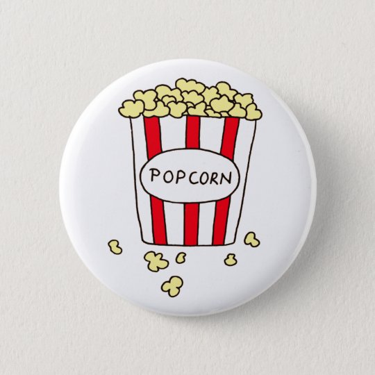 Fun Movie Theatre Popcorn in Red White Bucket