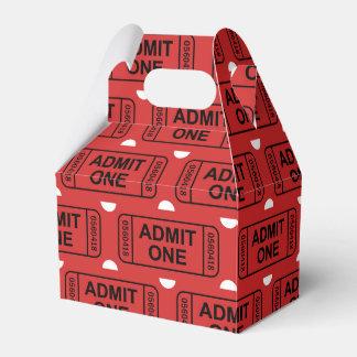 Fun Movie ticket pattern party favor box