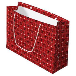 Fun Movie ticket pattern party gift bag