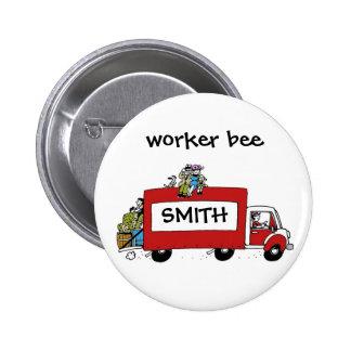 fun moving day change of address 6 cm round badge