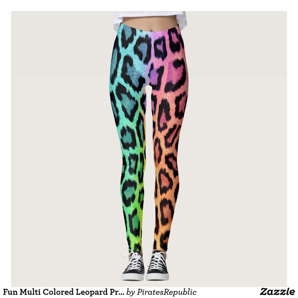 Fun Multi Coloured Leopard Print