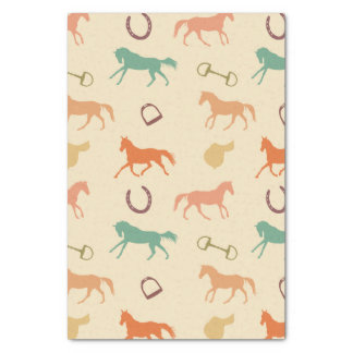 Fun Multicolor English Horse Pattern Tissue Paper