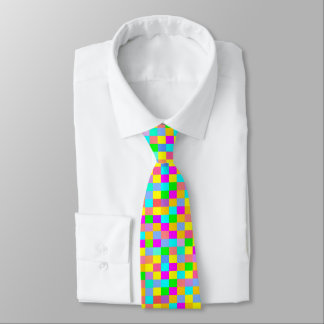 Fun multicolore squares tie