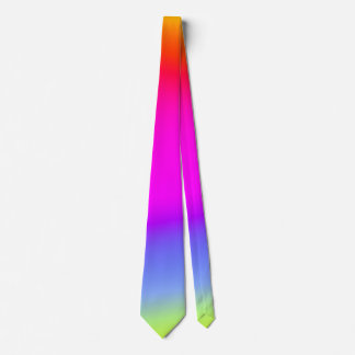 Fun Multicolored Rainbow-Like Pattern Necktie