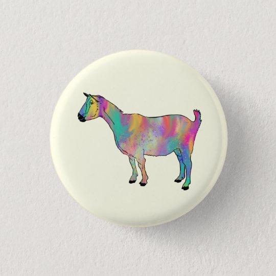 Fun Multicoloured Goat Painting Animal Art Design 3