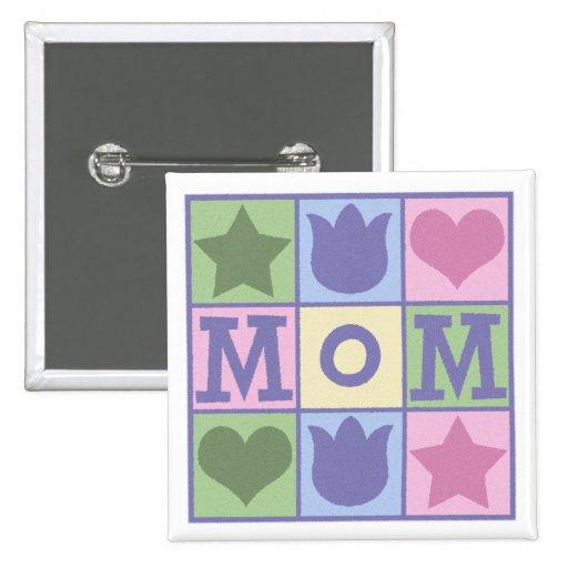 Fun Mum Quilt Squares Square Button