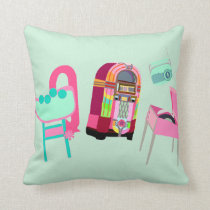 Fun Music Fifties Design Cushion