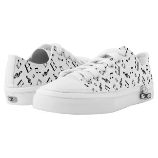 Fun Music Notes Pattern Low Tops