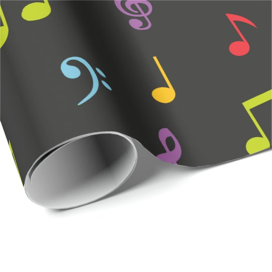 Fun Music notes patternparty wrap Wrapping Paper