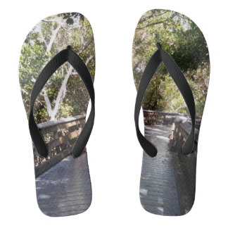 Fun Nature Walk Path Print Flip Flops