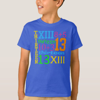 Fun NEON 13 GRAPHIC 13th Birthday TEE