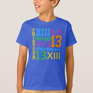 Fun NEON 13 GRAPHIC 13th Birthday TEE