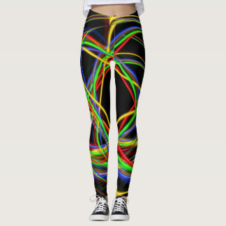 Fun Neon Strands Leggings
