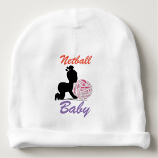 Fun Netball Theme Design Baby Beanie
