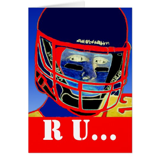 Fun New Football Fan Greeting Card Sports Gift