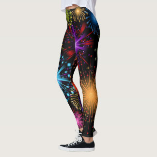 Fun New Years eve Holiday party leggings