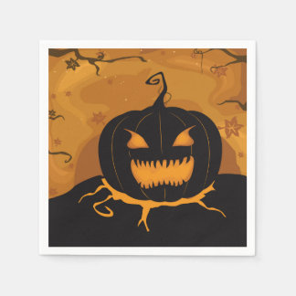 Fun Night Halloween Party Paper Napkins