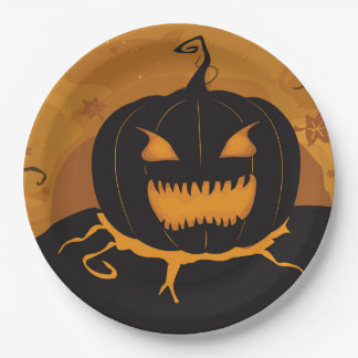 Fun Night Halloween Party Paper Plates
