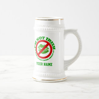 Fun no kissing  St Patrick's day Beer Stein
