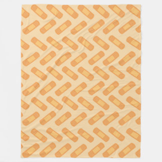 Fun Nurse bandage pattern fleece blanket