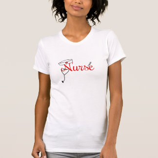 Fun Nurse graphic tee for RN BSN graduate RED